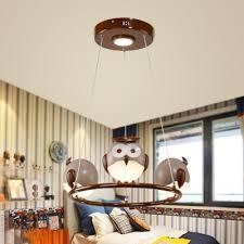 children kids bedroom owl ceiling light fixture led hanging pendant chandelier light 6 options available