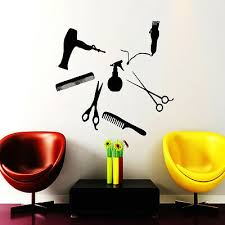 beauty salon wall decals scissors combs