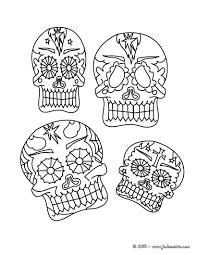 Coloriages Masques Mexicains T Te De Mort Imprimer Fr