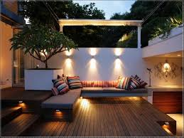 outdoor stair lighting lounge. Under Deck Lighting Ideas With Outdoor Wall Sconces And Sectional Patio Lounge Sofa: Full Stair M