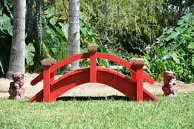 japanese outdoor furniture. Here Is A Low Profile 8 Ft Japanese Bridge With Custom Rails They Are Open In The Center To Allow Turtles Inter Pond From Top Of Bridge. Outdoor Furniture