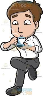 drinking coffee clipart.  Clipart A Man Blowing On Hot Cup Of Coffee To Drinking Clipart M