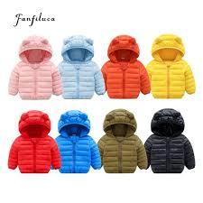 fanfiluca toddler coat black hooded warm winter coat girls cotton waistcoat infant for baby boy jacket