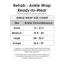 Ready Wrap Size Chart Ankle Wrap