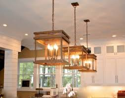 copper chandelier kitchen island