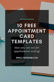 Appointment Card Template Appointment Card Template 10 Free Resources For Small