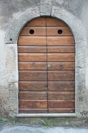 wood building home arch furniture gate door apartment front door input house entrance portal natural stone