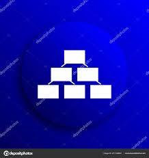 Background For Organizational Chart Organizational Chart Icon Internet Button Blue Background