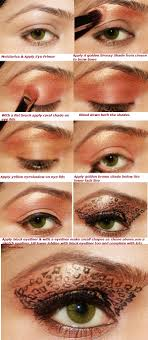 leopard eye makeup step by step final
