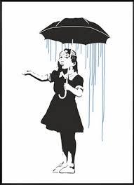 long way home by banksy print graffiti art girl with umbrella wall art canvas prints poster  on banksy wall art prints with long way home by banksy print graffiti art girl with umbrella wall
