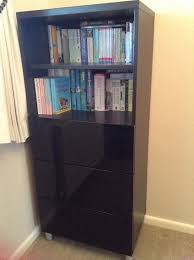 ikea black furniture. Perfect Furniture IKEA Office Bedroom Dining Room 3drawer Bookcase And Sideboard Unit   Black Brown Finish With Black Gloss Doors  Draw Fronts Silver Satin Legs  Throughout Ikea Black Furniture