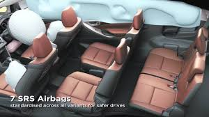 7 SRS Airbags with vehicle stability & hill start assist control ...