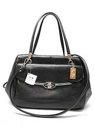 Coach Madison Small Madeline East west Satchel (Gold   Black)