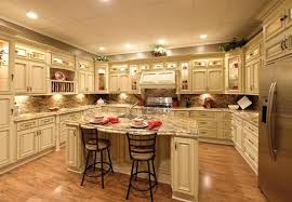 Image Of: Antique White Kitchen Cabinets With Granite Countertop
