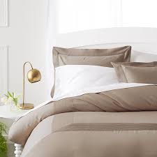 pinzon 400 thread count pleated hem egyptian cotton duvet set full queen