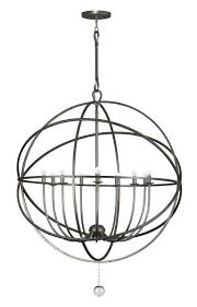 black orb chandelier absolutely ideas wrought iron chandeliers sphere with hand painted benita antique 4