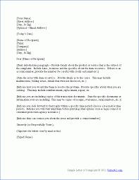 sample complaint letters word letters get sample complaint letter