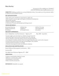 Babysitter Job Description Resume Free Download Babysitting Resume