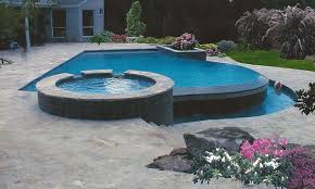 inground pools with waterfalls and hot tubs. Inground Pool And Spa Pools With Waterfalls Hot Tubs