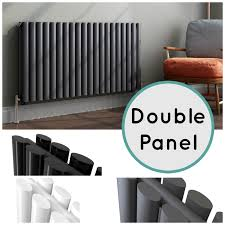 Horizontal Designer Oval Column Double Panel Central Heating Bathroom  Radiators Heatin
