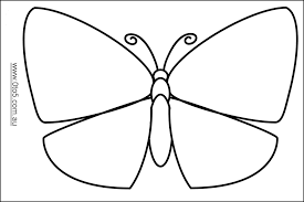 Printable Butterfly Outline Free Butterfly Template Download Free Clip Art Free Clip