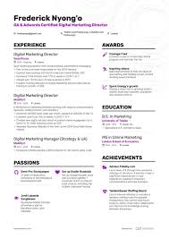 Digital Marketing Resume Example And Guide For 2019