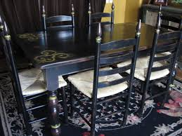 distressed black dining room table. White Distressed Dining Room Table And Chairs Black E