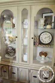 5 easy tricks to style a hutch or bookcase... Hutch-Living Room