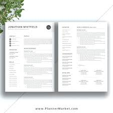 One Page Resume Template Word Custom Resume Template 48 Page Professional Design With 48 Cover Letter Photo