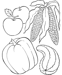 Small Picture Thanksgiving Dinner Coloring Page Sheets Fruit of the field