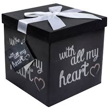 Decorative Gift Boxes With Lids Amazon Gift Box 60X60X60 Amrita Heart Collection Easy to 13
