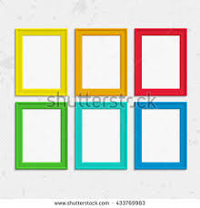 Set Colorful Wooden Frames Wooden Square Stock Vector 433769983