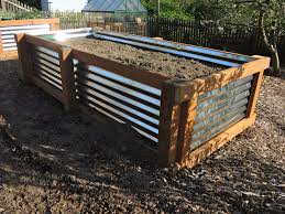 corrugated metal garden beds. Wonderful Corrugated Completed Bed Has Been Placed In The Garden Leveled And Filled With Soil For Corrugated Metal Garden Beds 3