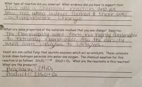 in the first question this student demonstrates some of the challenges that many students have in this lab for example the student notes that there were