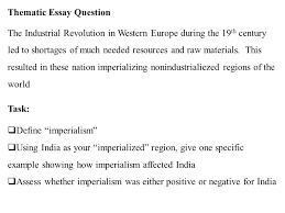 what i know about what i learned about what i want to  thematic essay question the industrial revolution in western europe during the 19 th century led to