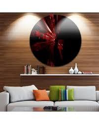 red circle metal wall art