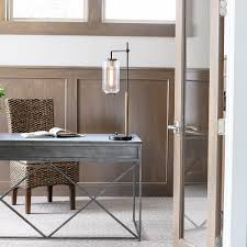 office metal desk. New Traditional Home Office Desk - Love The Metal And Interesting Design Details!