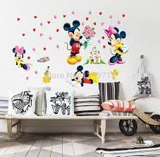 mickey mouse and minnie mouse wall