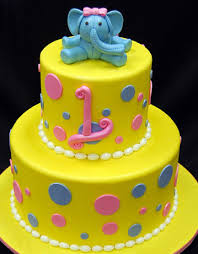 Elephant Baby 1st Birthday Cake Fondant Cakes In Lahore