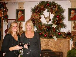 Stephanie Markowich and Kelly Sohigian, both of Fairfield, decorated the  Gentleman's Library Room at