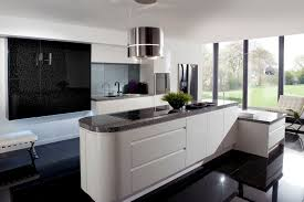 White Kitchen Modern White Kitchen Black Tiles Modern Kitchen Design Dark Grey Floor