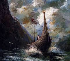 by Floyd Johnson | Viking ship, Ship artwork, Vikings