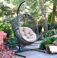 hammock swing chair outdoor wicker swing chair hanging egg chair with stand wicker basket cushion indoor