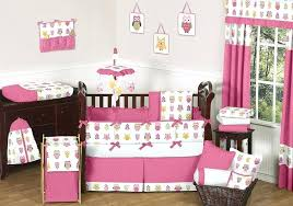 girl monkey crib bedding sets bedroom attractive owl theme baby girl bedding sets in white and