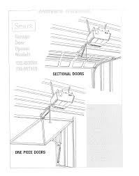craftsman 139653000 user manual sears electronic garage door opener manuals and guides l0809294