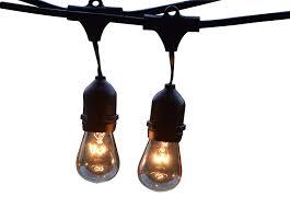 Black Outdoor String Lights Amazon Com Royal Light Outdoor String Lights 48ft Long