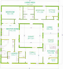 interior courtyard floor plans ideas inside modern house plan