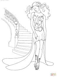 Small Picture Coloring Pages Fashion Coloring adult clock woman Free To Print