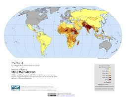 World Map Of Child Malnutrition By Subnational