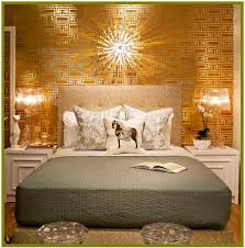 Small Picture wallpaper in yellow gold bedroom Metallic home decor